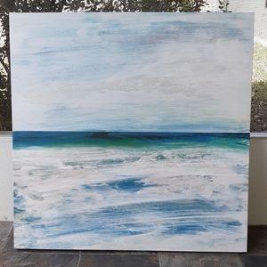 Oceanscape large painting (print) l NWOT